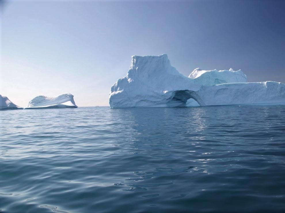 Icebergs avistados desde el Northabout.