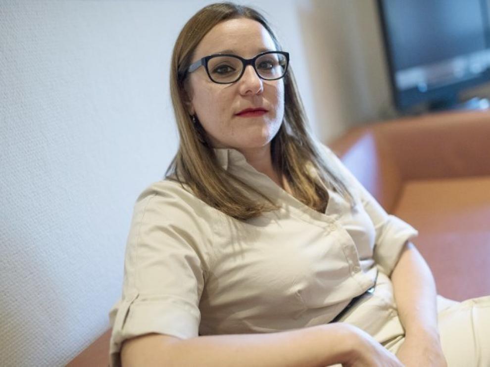 La secretaria de Organización de Podemos Castilla-La Mancha, María Díaz.