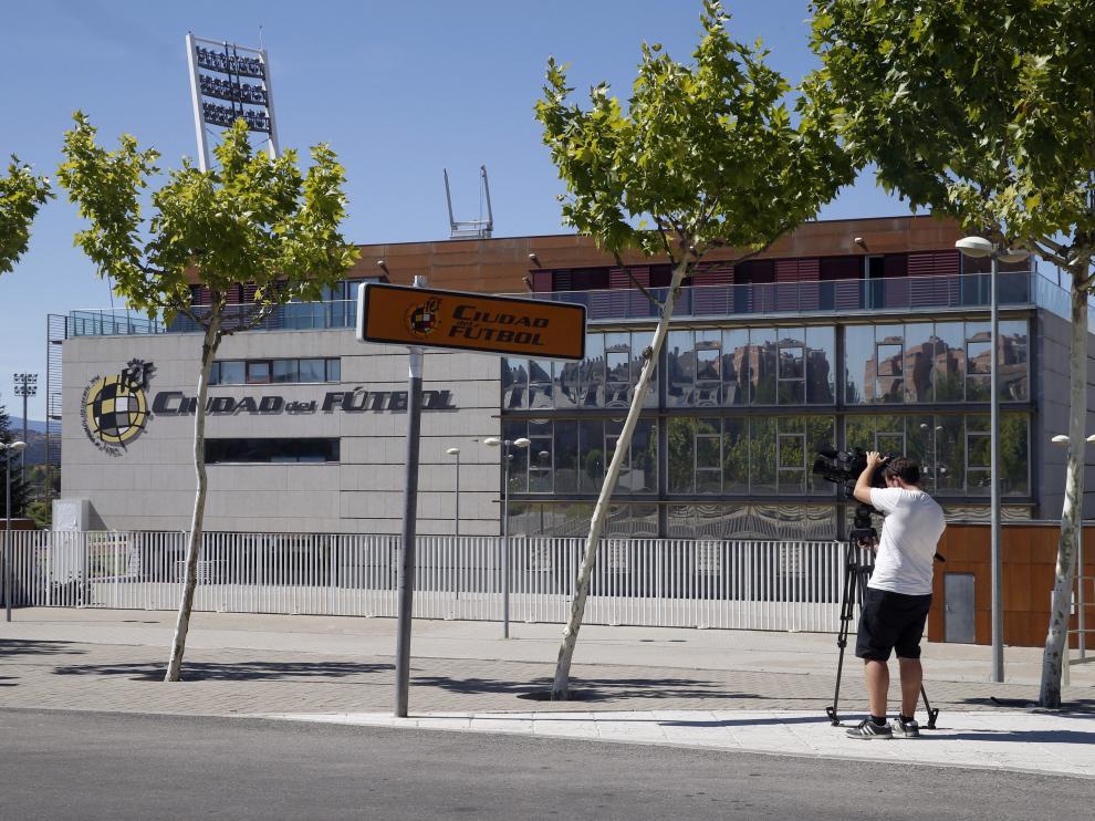 La Ciudad del Fútbol, en Madrid, sede de la Federación Española de Fútbol.