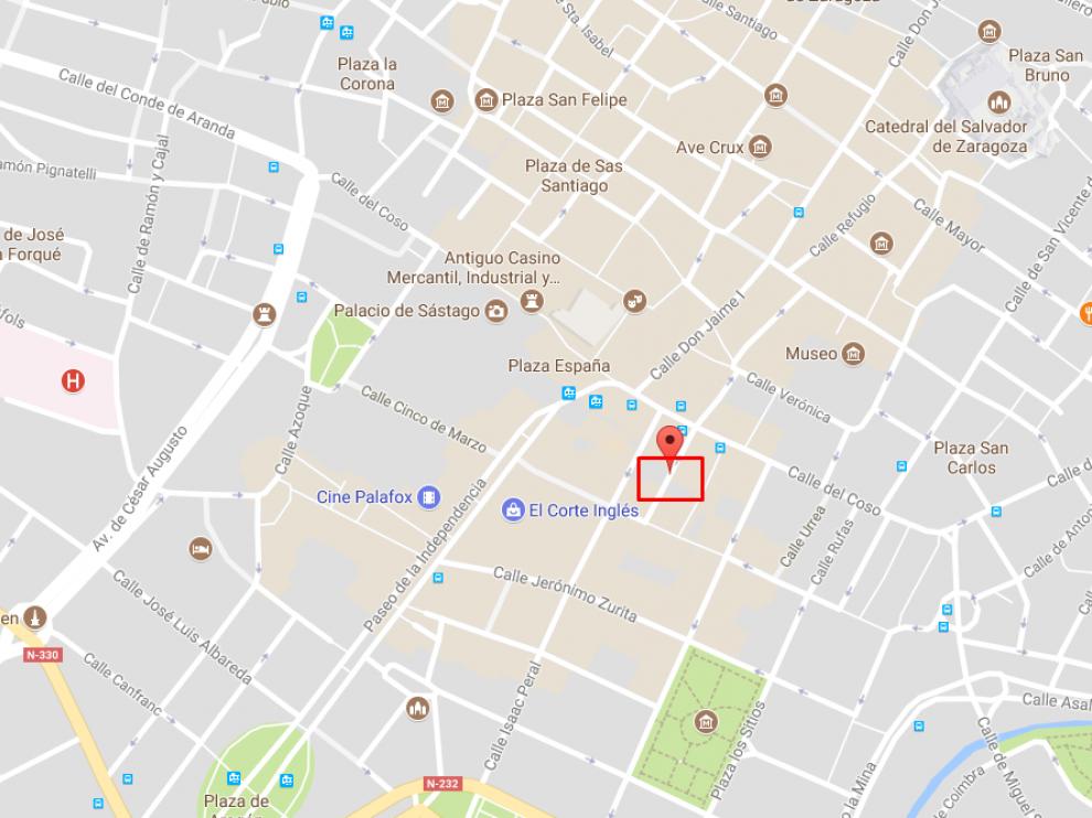 La detención se produjo este lunes, a las 23.15, en la calle JerónimoBlancas.