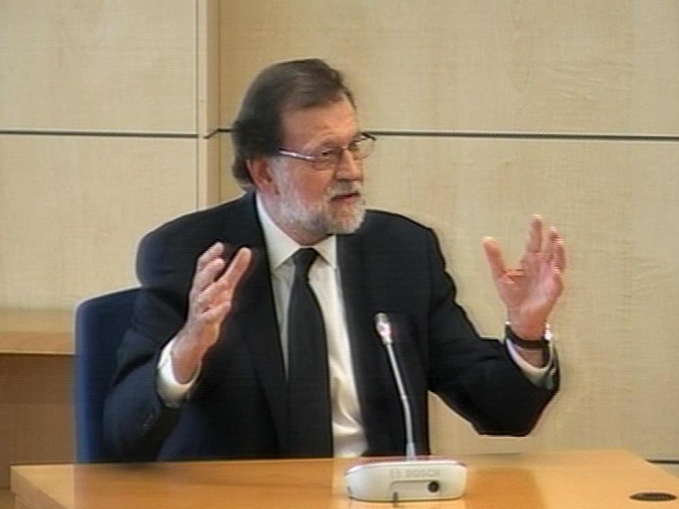 Rajoy declarando en la Audiencia Nacional.