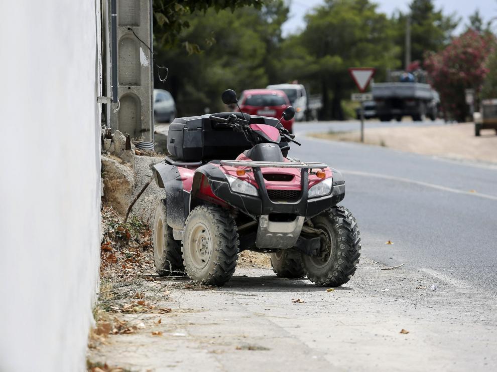 El quad que conducía Ángel Nieto en el momento del accidente.
