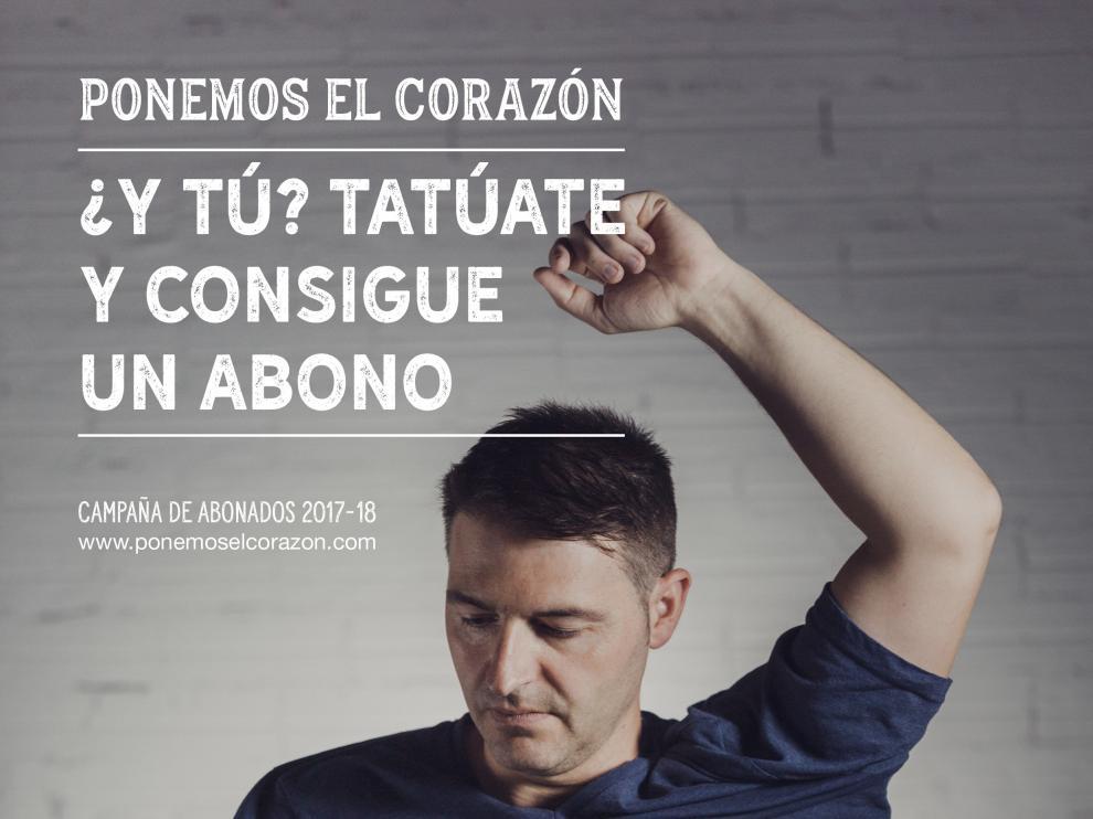 Imagen de la campaña 'Ponemos el corazón' del Huesca.