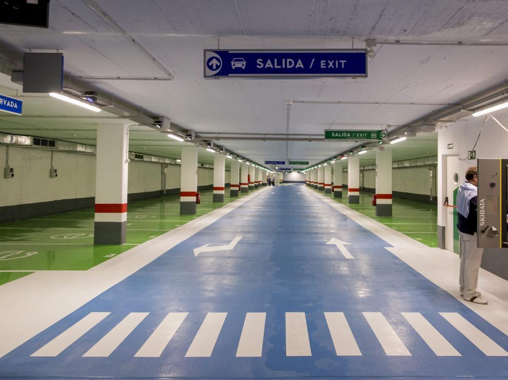 Imagen del aparcamiento de la calle Moret