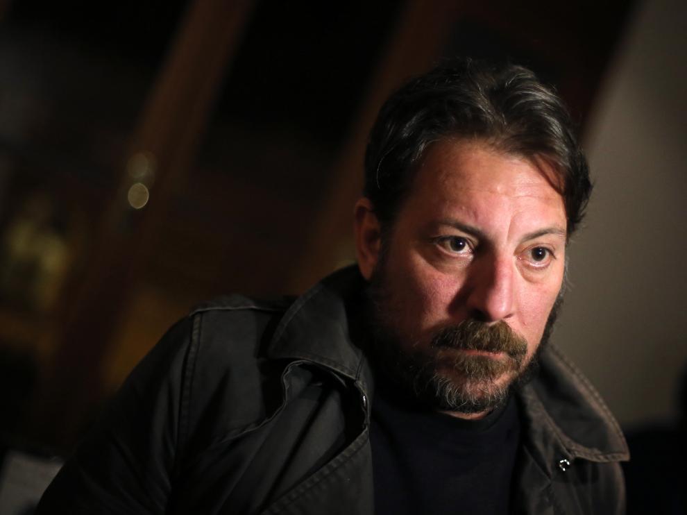 El escritor Ray Loriga en la presentación de su última novela, 'Rendición'.