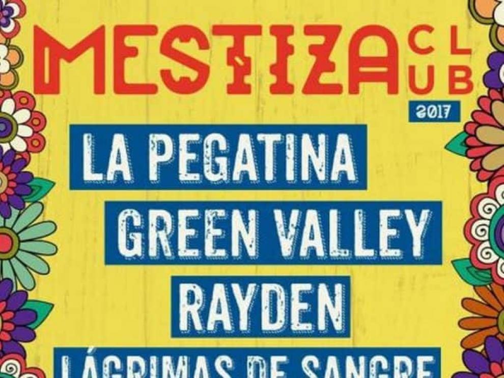 El cartel del Festival Mestiza Club 2017.