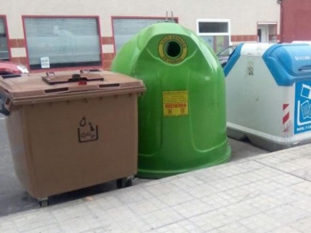 Contenedores de reciclaje en Huesca