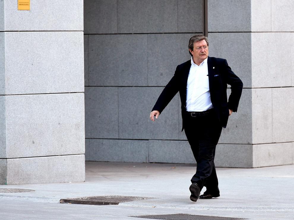 El recién nombrado presidente de la Real Federación Española de Fútbol (RFEF), Juan Luis Larrea.