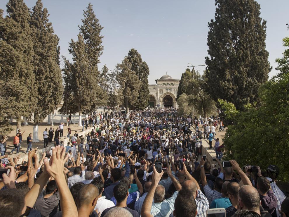 Protestas en la explanada de las mezquitas