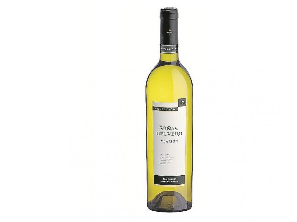 Vino blanco Clarión, de Viñas del Vero (D. O. Somontano).