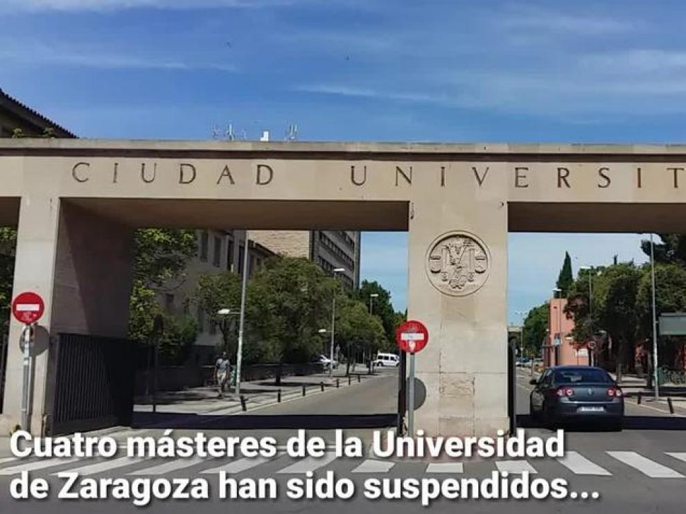 La Universidad de Zaragoza suspende cuatro másteres