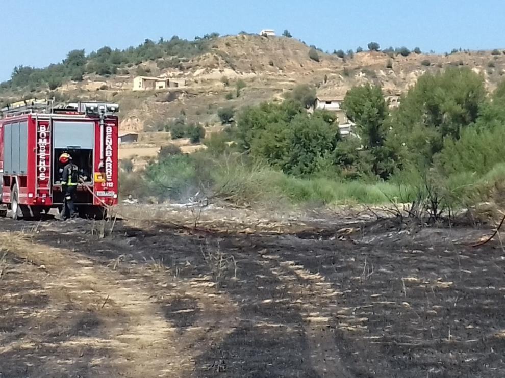 Incendio agrícola en Antenza