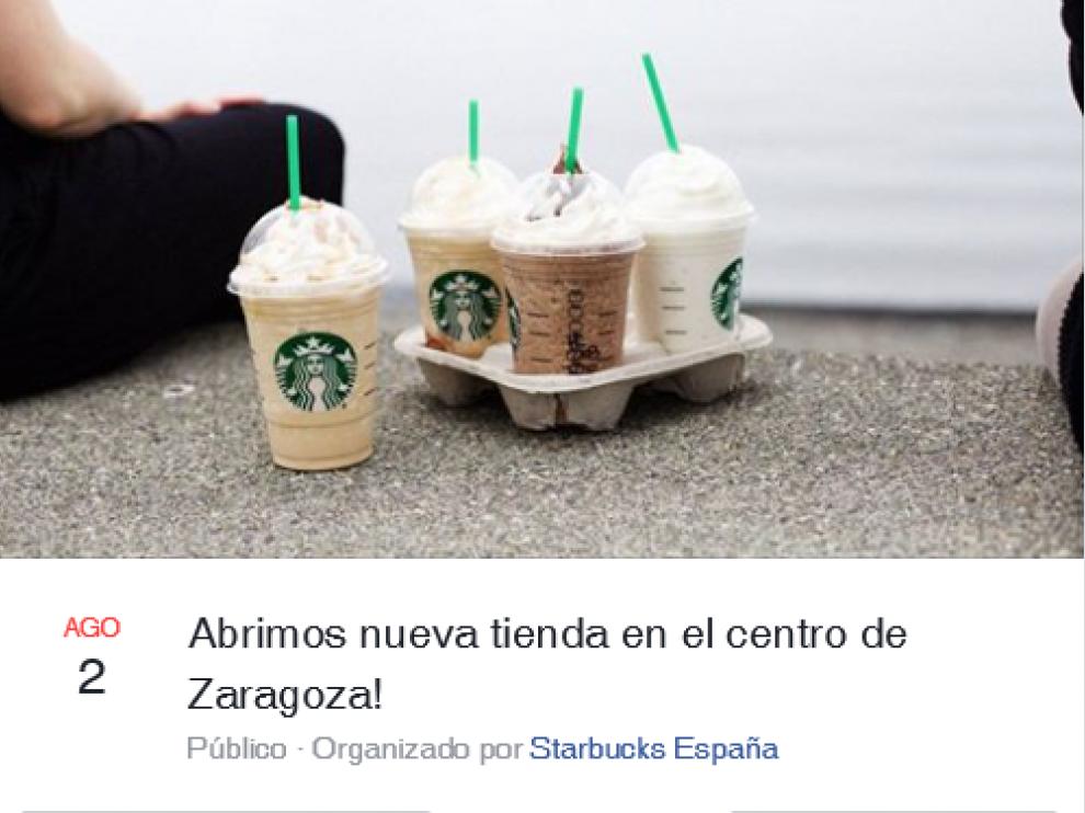 Starbucks ha abierto un nuevo establecimiento en el Coso de Zaragoza.