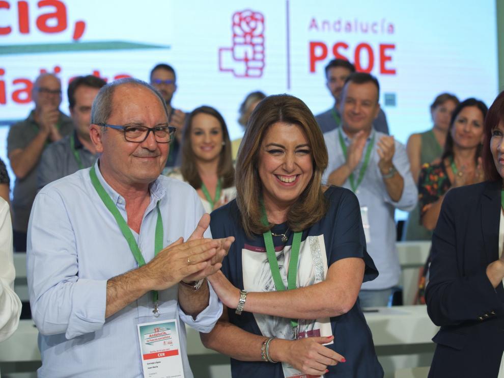 Susana Díaz ha sacado adelante este sábado su informe de gestión en el XIII Congreso Regional del partido.