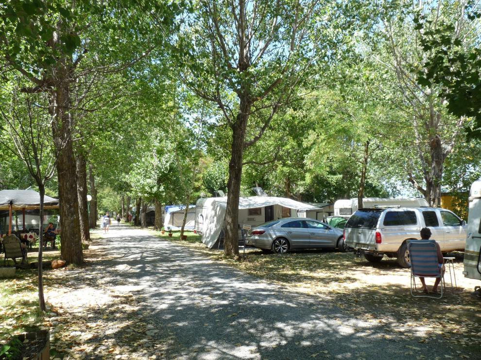 El camping Victoria, en Jaca, este viernes.