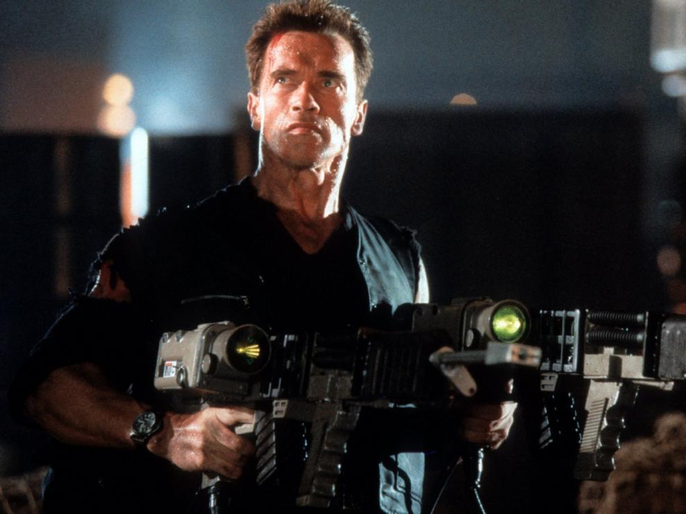 Arnold Schwarzenegger en Eraser.