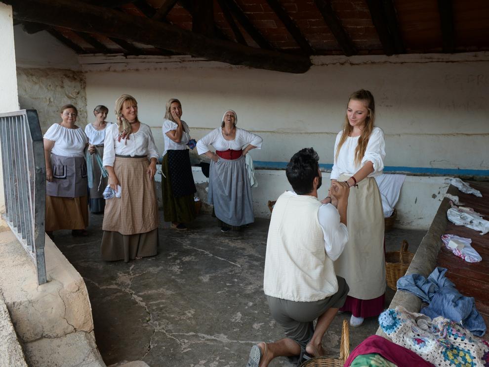 Una de las representaciones tuvo lugar en el lavadero de Gea de Albarracín.