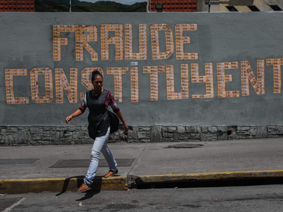 Pintada hecha en Caracas este sábado.