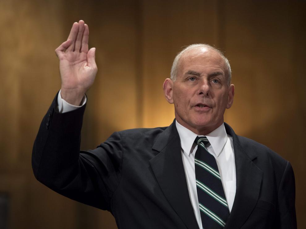 John Kelly, nuevo jefe de gabinete de Trump que sustituye a Priebus.