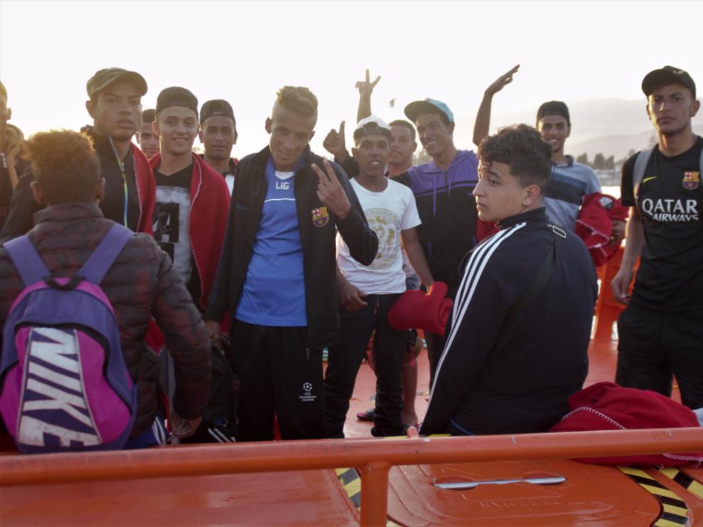 Rescate de inmigrantes en Motril