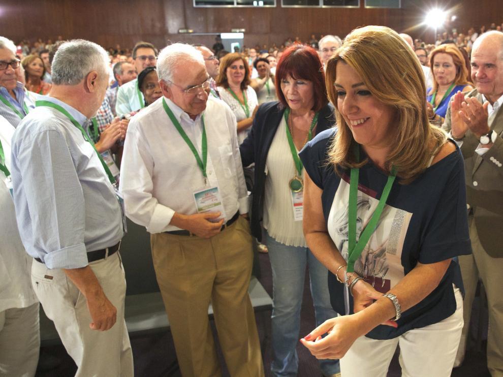 Guerra, Chaves y Griñán arropan a Susana Díaz en la apertura del congreso andaluz