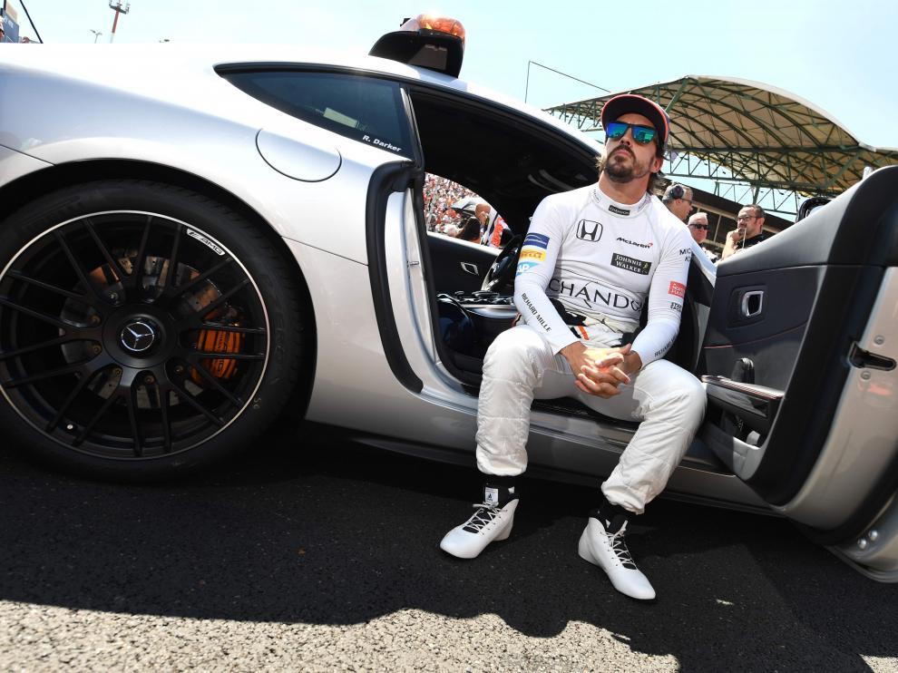 """""""Y, de manera un poco sorprendente, la vuelta rápida del penúltimo giro. Bienvenida es"""", destacó en declaraciones a Movistar F1."""