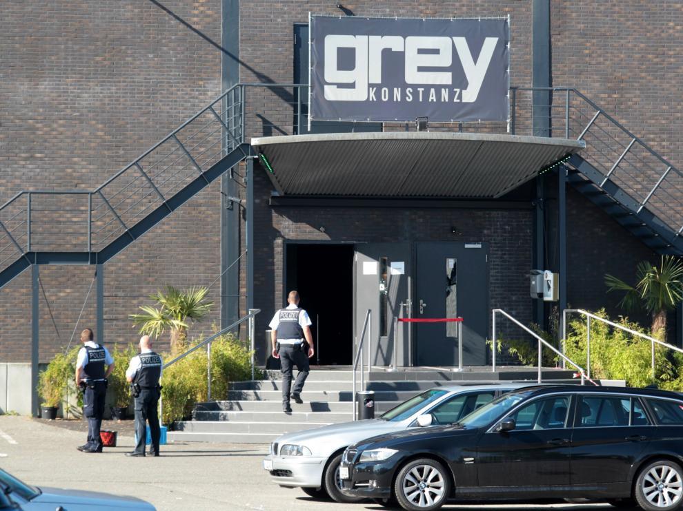 Discoteca Grey, donde se produjo el tiroteo, en Costanza (Alemania)