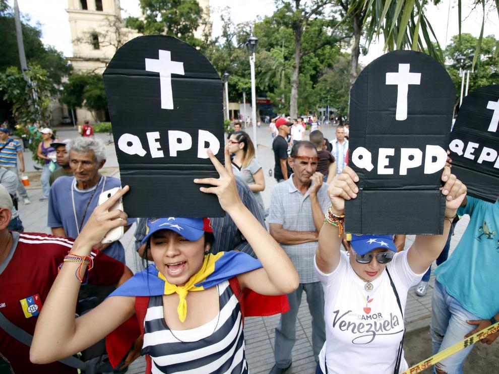 Protestas en Venezuela por la celebración de los comicios a la Asamble Nacional Constituyente.