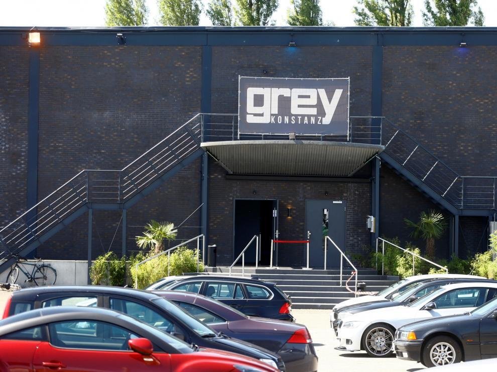 Entrada a la discoteca donde la madrugada de este domingo han muerto dos personas en Alemania.