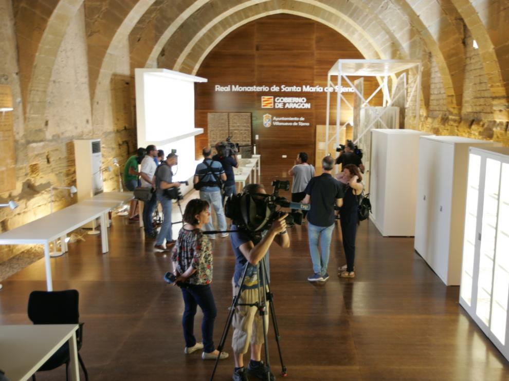 El Gobierno de Aragón esperó los bienes en Sijena hasta las 22.00 de este lunes.