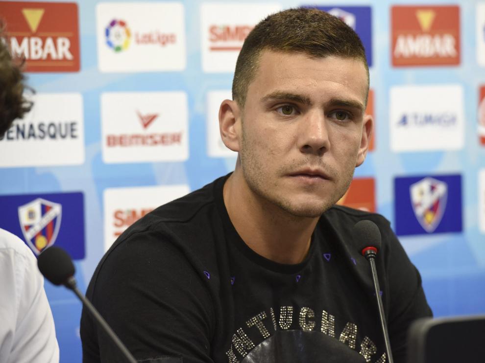 Álex Gallar se ha estrenado este fin de semana como goleador en el Huesca.