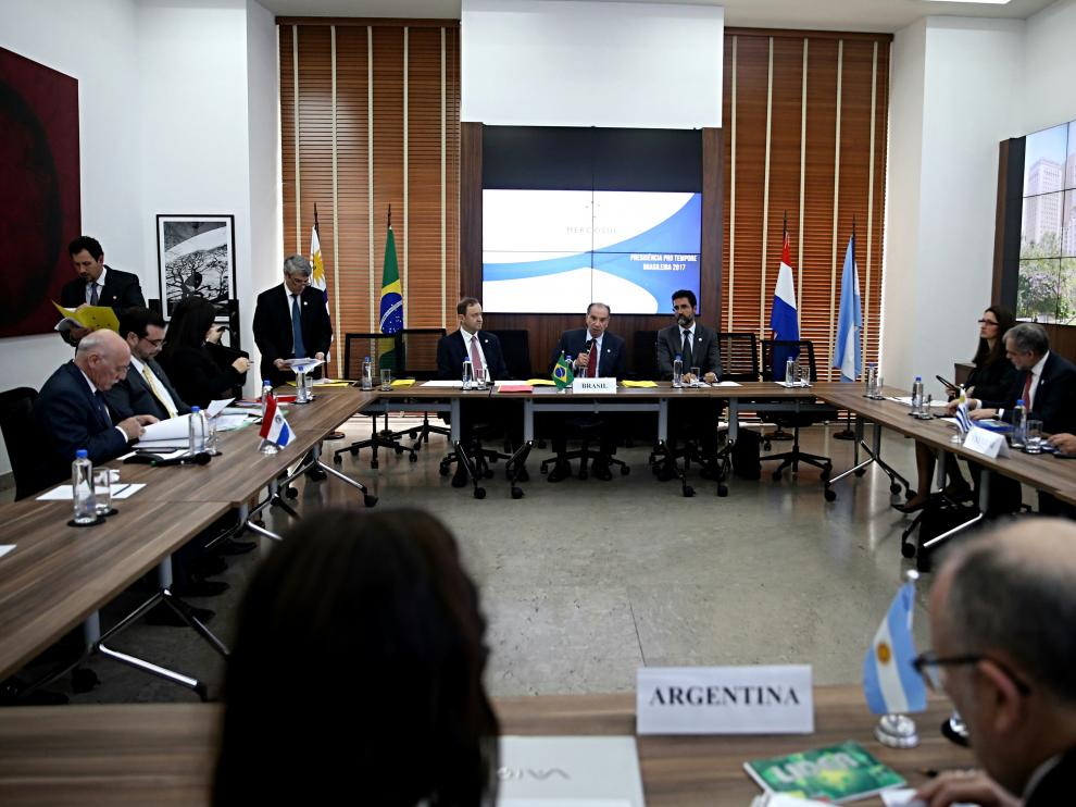 Imagen de la reunión del Mercosur.
