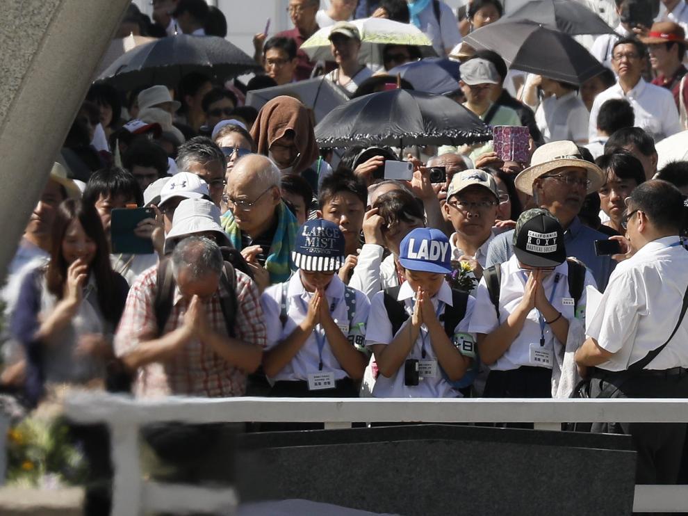 72 años del lanzamiento de la bomba nuclear en Hiroshima
