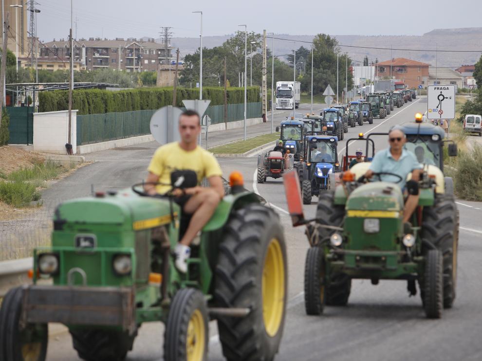 La semana pasada hubo una tractorada contra los bajos precios de la fruta.