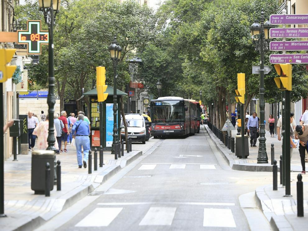 La calle de Don Jaime, en pleno Casco Histórico.