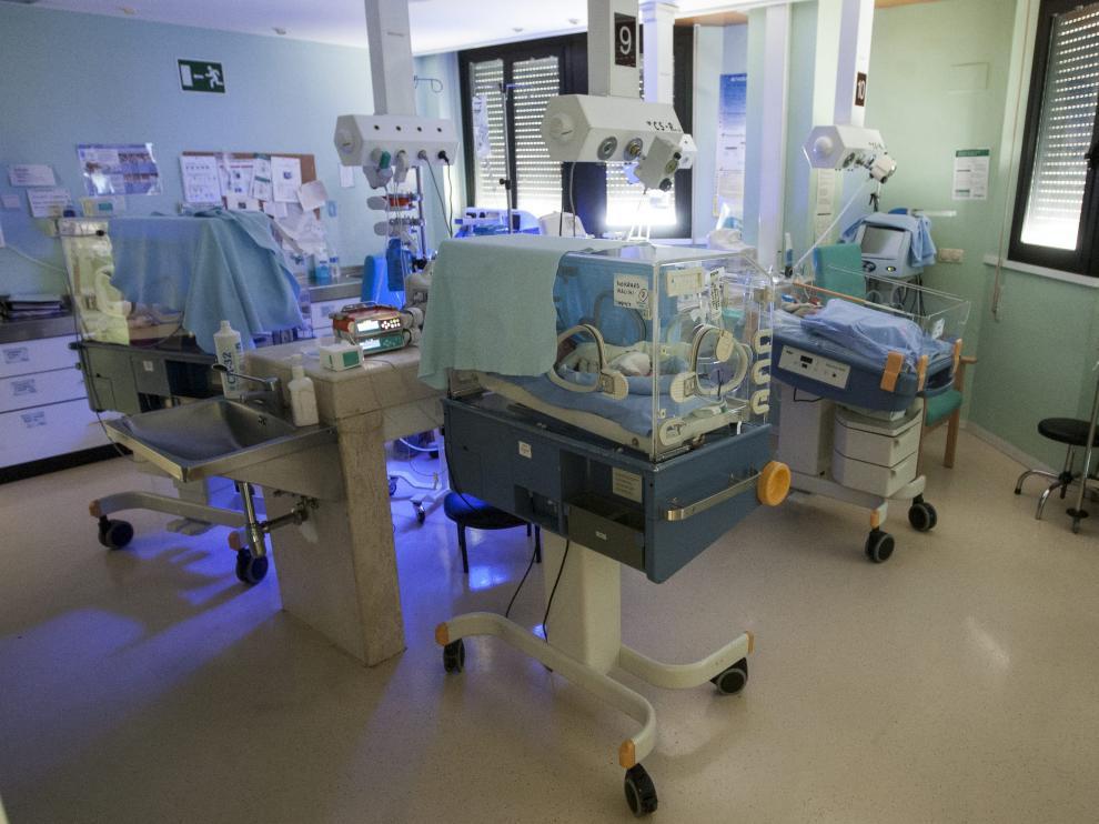 Imagen de archivo de las incubadoras del Servicio de Neonatología del Hospital Clínico.