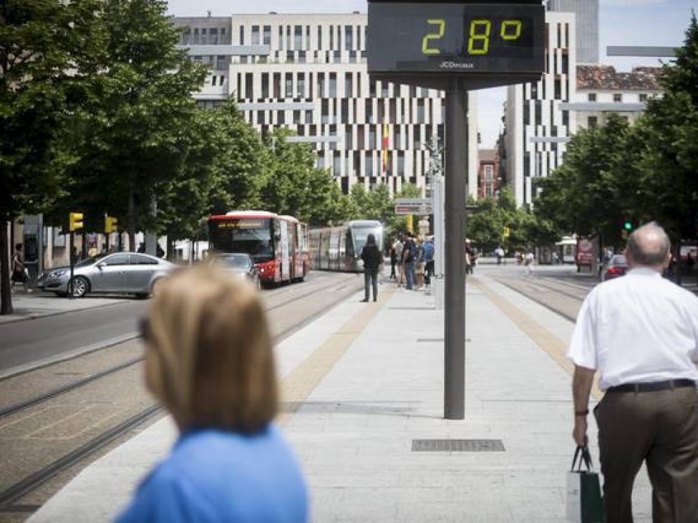Se esperan máximas en Zaragoza de 28 grados.
