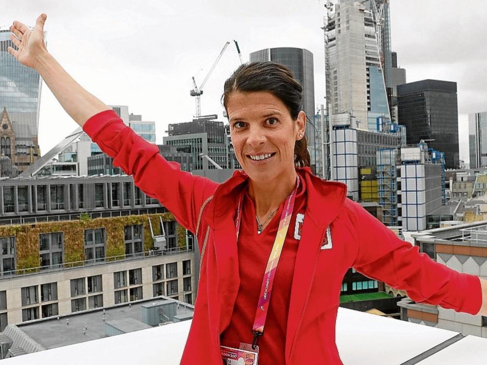 Ruth Beitia, en Londres.