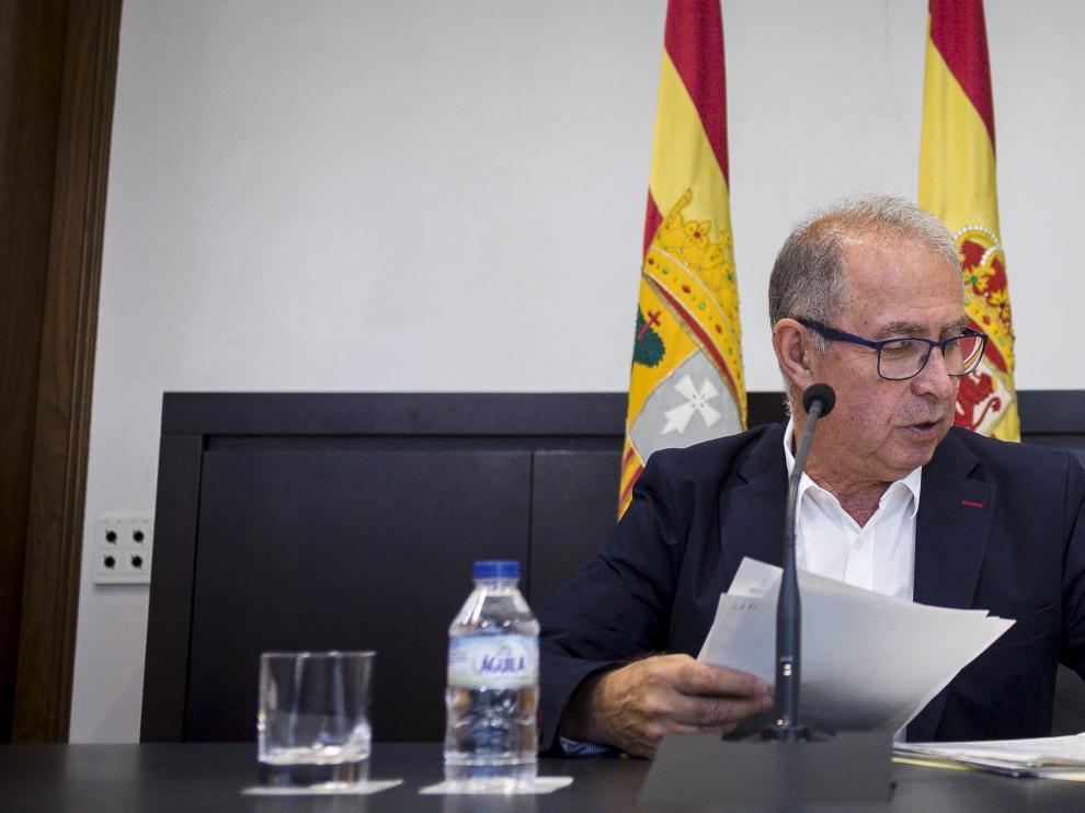 El consejero de Hacienda y Administración Pública del Gobierno de Aragón, Fernando Gimeno, este jueves