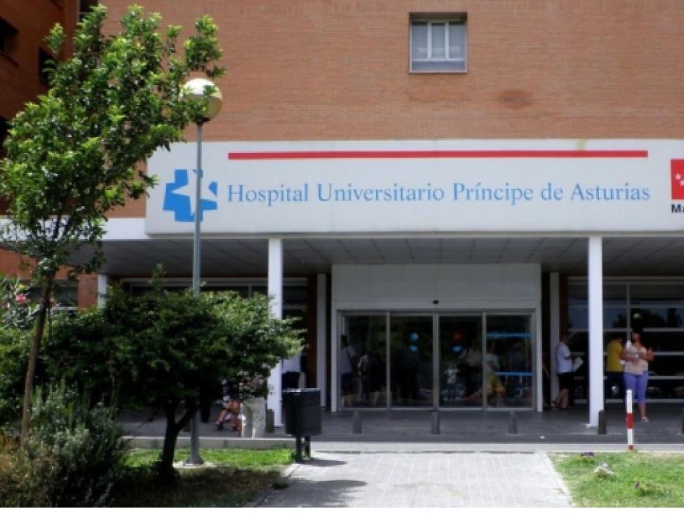 Entrada del hospital de Alcalá de Henares