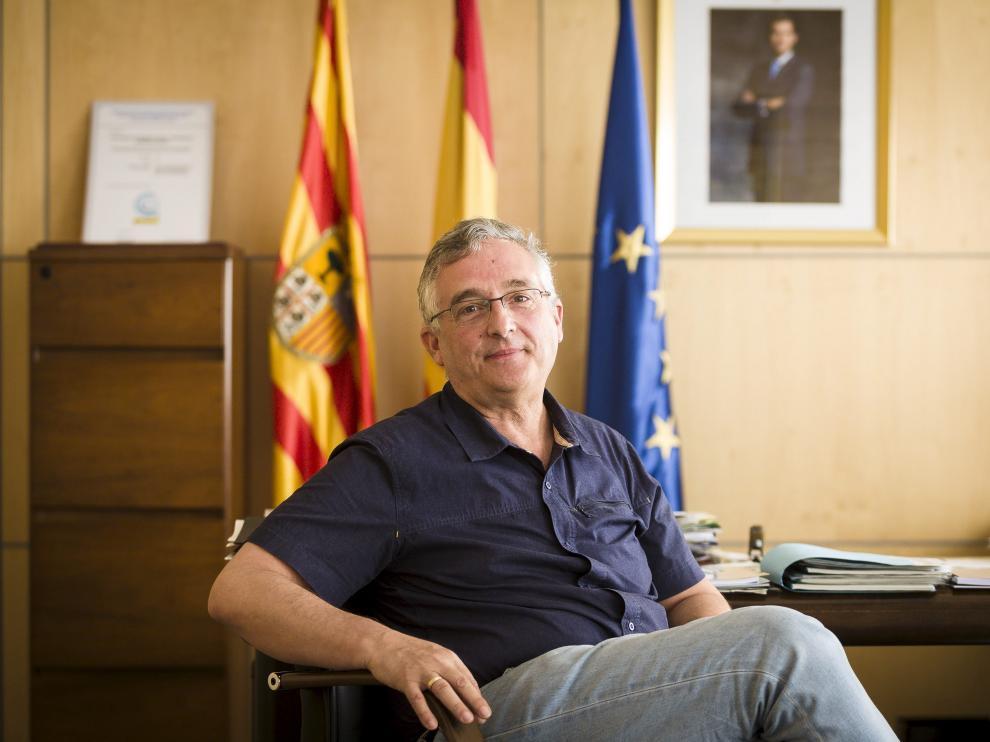 Joaquín Olona, consejero de Desarrollo Rural y Sostenibilidad, en su despacho la semana pasada.