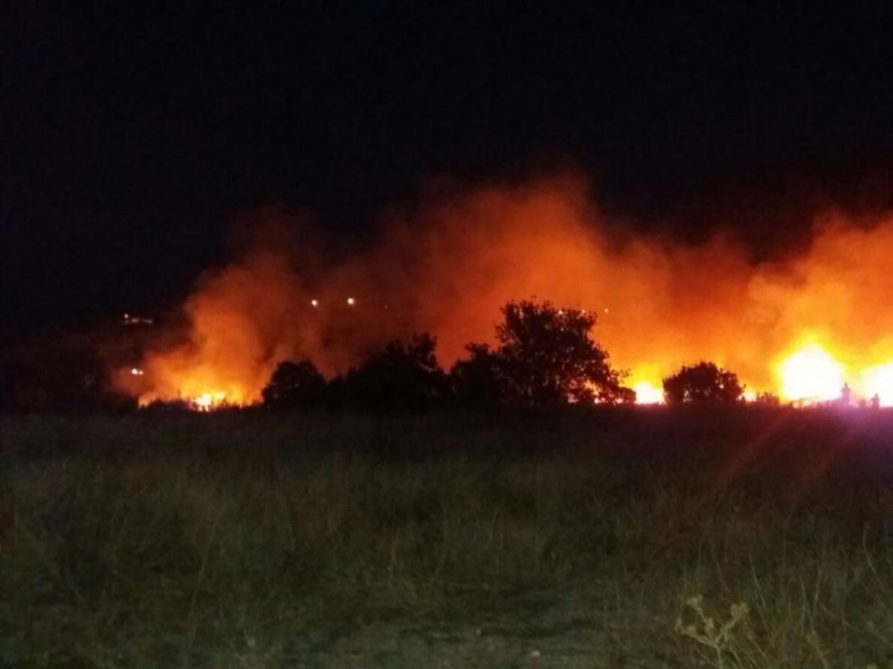 Incendio forestal en Cuarte de Huerva
