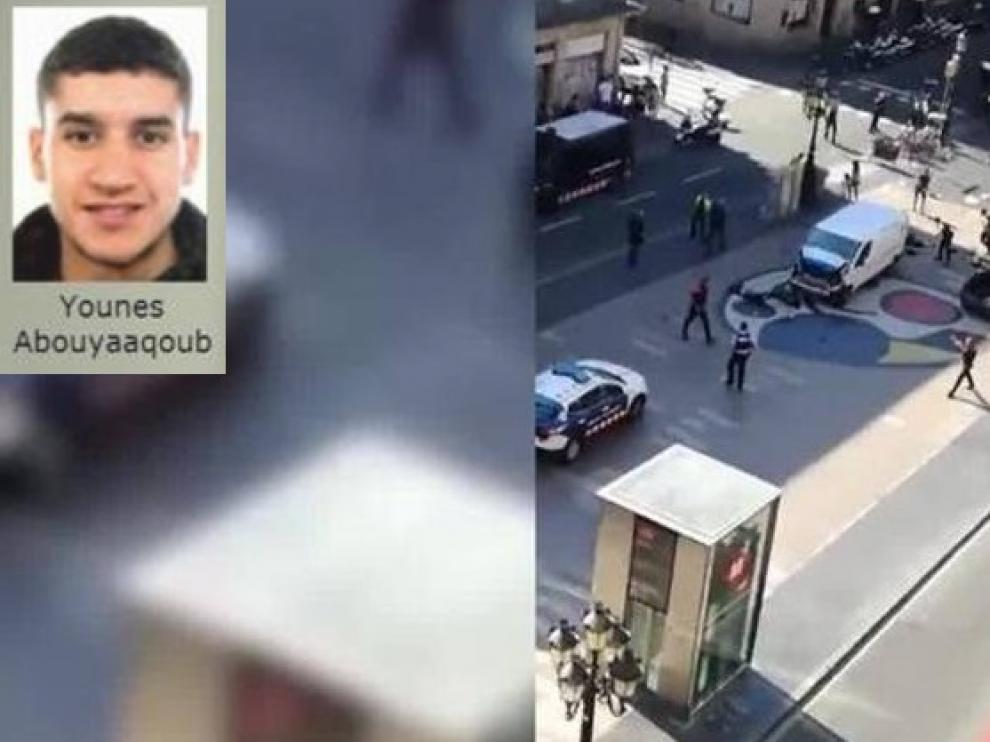 Imagen del atentado de Barcelona