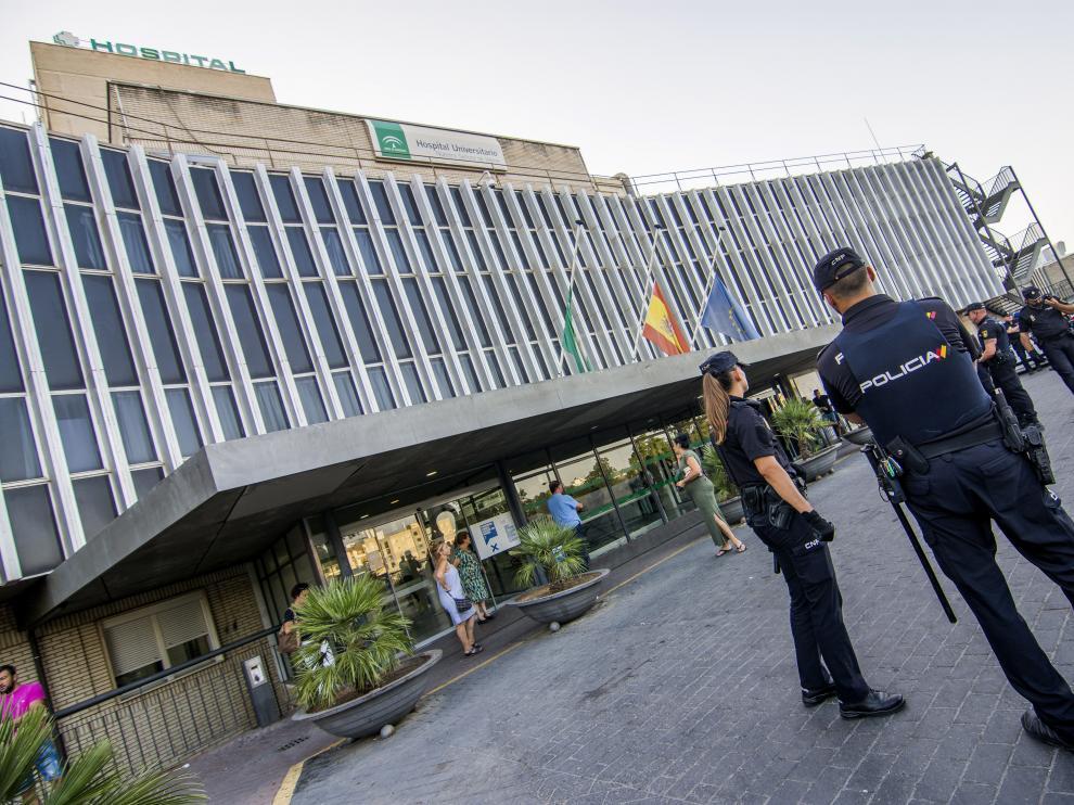 Fachada del hospital donde ocurrió el accidente.