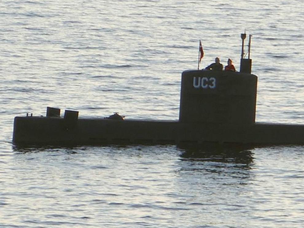 La periodista Kim Wall, a bordo del submarino.