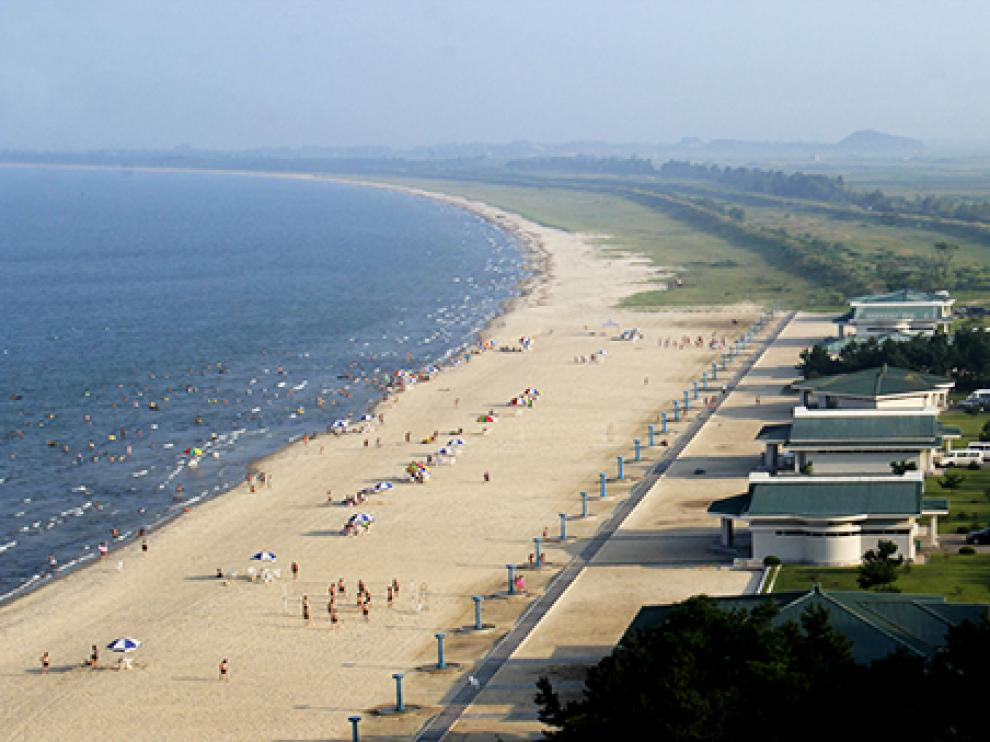 La localidad está situada a unos 200 kilómetros de Pyongyang.