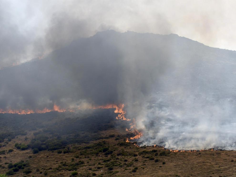 Una foto de archivo del incendio que se produjo en la provincia de León.