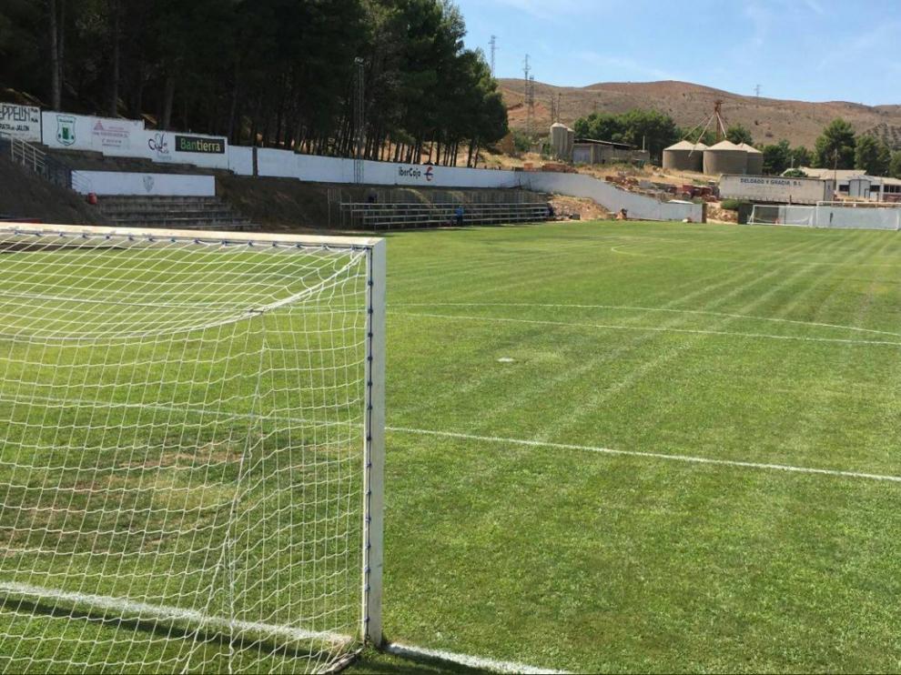 Campo de La Dehesilla de Morata de Jalón, donde este miércoles a las 19.00 juega el Real Zaragoza el partido de las peñas.