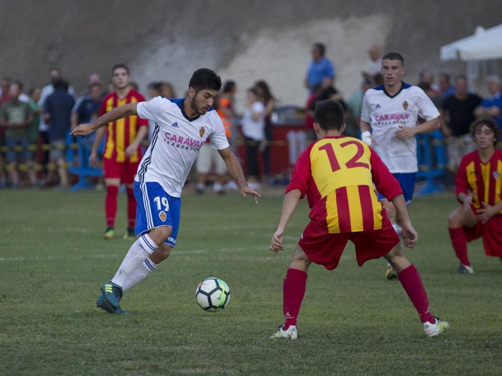 Empate entre el Real Zaragoza y el Morata en el partido de las peñas