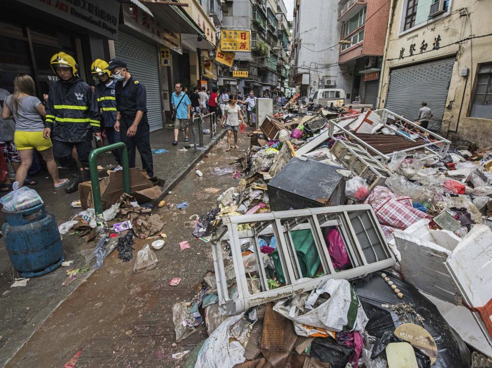 Hato fue la tormenta más fuerte registrada en Macao en 53 años.